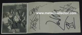 Metallica signed Damaged Justice Tour autographs w backstage pass