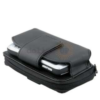 For Nokia X3 02 X6 X7 Black Leather Skin Case Cover