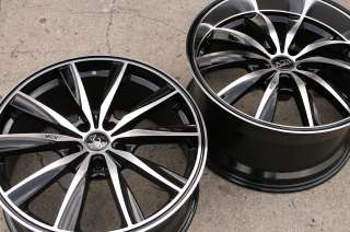 INSPIRE 19 BLACK RIMS WHEELS MERCEDES CLS 63 AMG / 19 X 8.0/10 5H +20