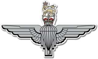 British Army Parachute Regiment Emblem Sticker Decal Mural   Pick Size