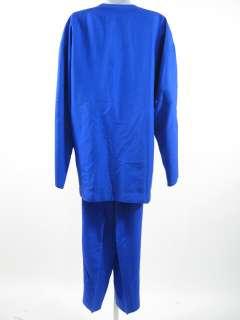 ADRIENNE VITTADINI Blue Green Silk Pants Cardigan Set S