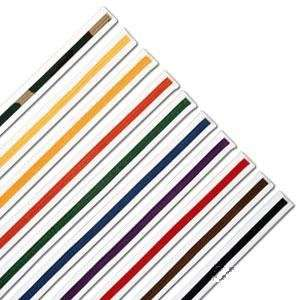 Karate/Martial Arts Rank Belts White with colored stripe