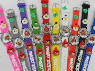 FREE SHIPPING watch Childrens quartz Cute bird Cartoon 3D 10PCS