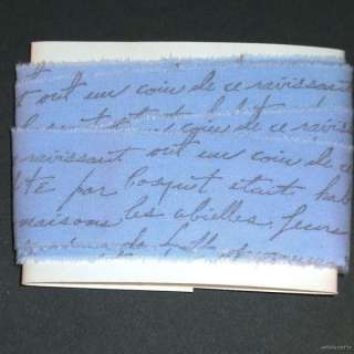 x42 muslin vintage french script periwinkle hand stamp