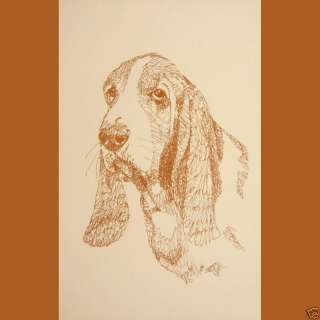 BASSET HOUND DOG ART #244 Stephen Kline draws dogs name free. DRAWN
