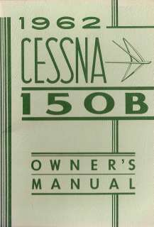 1962 Cessna 150 Owners Manual in PDF on CDROM