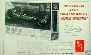 1965 Garlits Dragster Wynns Jammer Fastest Dragster AMT Model Car Kit