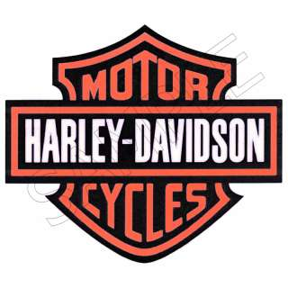 Harley Davidson Logo Edible Cake Topper Decor Image