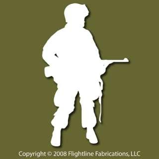 US Airborne Infantry WW2 Reenactor Vinyl Sticker VSP005