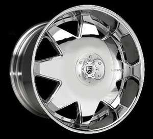 Wheel SET 28x10 Chrome LEXANI LX2 5 & 6 LUG RWD 28inch RIMS