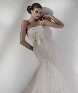 Gorgeous Custom made Strapless Lace Wedding Dress Bridal Gown Free