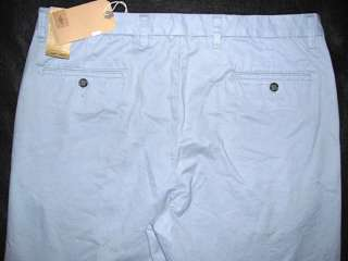 D3 Flat Front Classic Fit Blue SOFT Khaki Pants NWT Mens 36W x 29L $52