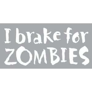 Zombies   6 WHITE Vinyl Decal Window Sticker by Ikon Sign Automotive
