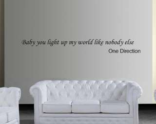 ONE DIRECTION wall quote sticker girls bedroom wall art