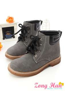 Womens Lace Up Work Boots Black Gray Baby Pink