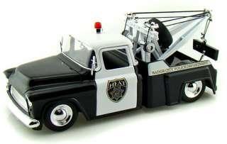 Jada 1/24 1955 Chevy Stepside Police Tow Truck / Wrecker