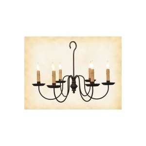 Antique Reproduction Lighting. Wilcox 6 Light Wrought Iron
