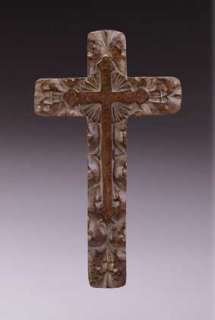 CLASSIC WOOD CARVED RUSTIC WALL WOODEN CROSS CHRISTIAN