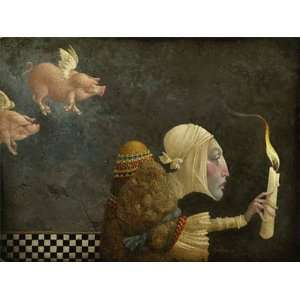 James Christensen   If Pigs Could Fly Canvas Giclee