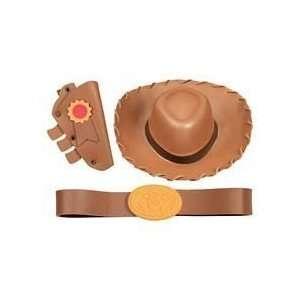 Disney Toy Story Woody Hat Belt & Holster Set Dress Up Costume Play