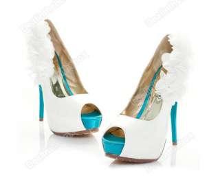 Fashion Sexy Lady Pump Platform Stiletto Super Flower High Heel Shoes