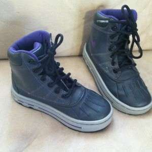 NIKE YOUTH ACG WOODSIDE BOOT GS [415077 002] ANTHRACITE PURPLE, 11.5