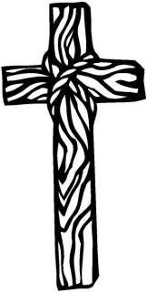 Wooden Cross Window Vinyl Decal Sticker Car Window