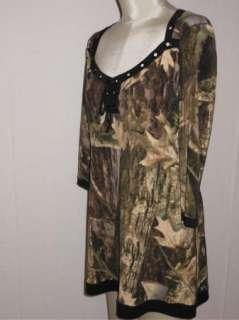 NWT EVA VARRO Lace Bodice Leaf Print Jersey Tunic Top M $128