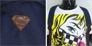 Navy Blue Superman School Backpack / College Bag