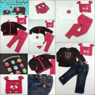 Girls 18 24 GYMBOREE FALL HOMECOMING Lot Tops Sweater Pants Jeans Owl