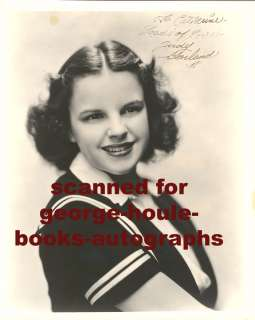 JUDY GARLAND~VTG~PORTRAIT~INSCRIBED~WIZARD