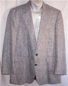 42R Circle S WESTERN NAVY WHITE FLECKED TWEED sport coat suit blazer