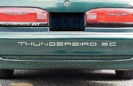 1989 95 FORD THUNDERBIRD SC REAR BUMPER LETTER DECAL KIT*