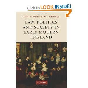 in Early Modern England (9780521182263) Chrisopher W. Brooks Books