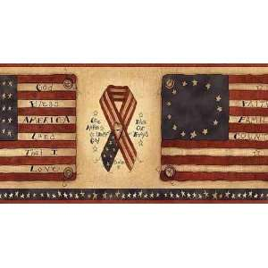 Flags and Ribbons Wallpaper Border: Home Improvement
