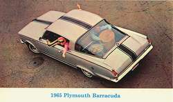 1965 Plymouth BARRACUDA FASTBACK Dealer Promotional PC