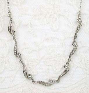 Elegant Clear Crystal Necklace & Earring Set