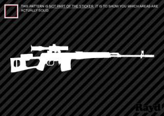 Dragunov Sticker Decal Die cut sniper rifle 7.62