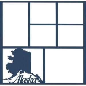 Alaska State 12 x 12 Overlay Laser Die Cut