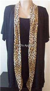 New Double Take Womens Plus Size Clothing Black Cardigan Shirt Top