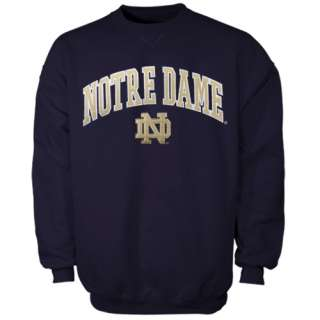 Notre Dame Fighting Irish Navy Blue Tackle Twill Pullover Crew