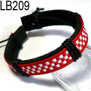 New Charm Braided Genuine Leather Bracelets Wristband Bangle