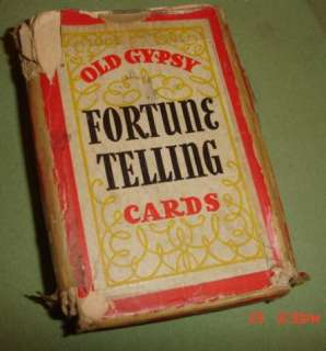 1940 Whitman OLD GYPSY FORTUNE TELLING CARDS/Original Directions & Box