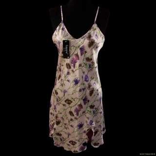 Sexy Lilac Floral Print Negligee M L XL XXL #S10552