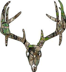 Deer Skull S7 Vinyl Sticker Decal Hunting Big Buck trophy whitetail