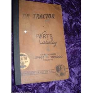 Caterpillar D8 Tractor OEM Parts Manual 2U9662 2U15000: Caterpillar D8