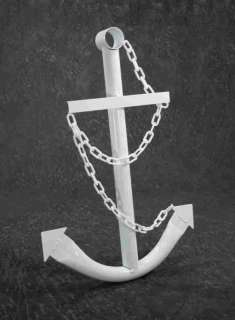 Nautical White Anchor Metal Decorative Wall Yard Art 3