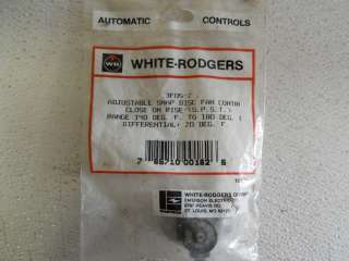 WHITE RODGERS 3F05 2 ADJUSTABLE SNAP DISC FAN CONTROL