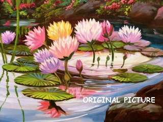 Lotus Lily Pond Cross Stitch Pattern Flowers TBB