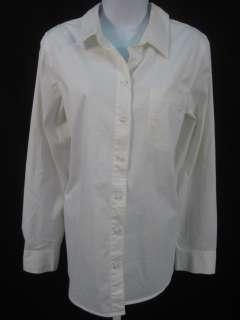 LIZ LANGE MATERNITY White Cotton Shirt Top Blouse Sz XL
